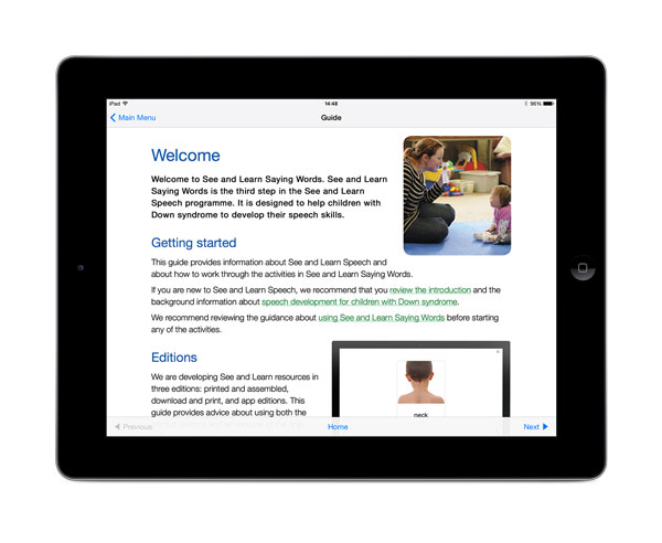 See and Learn Saying Words 1 app for iPads