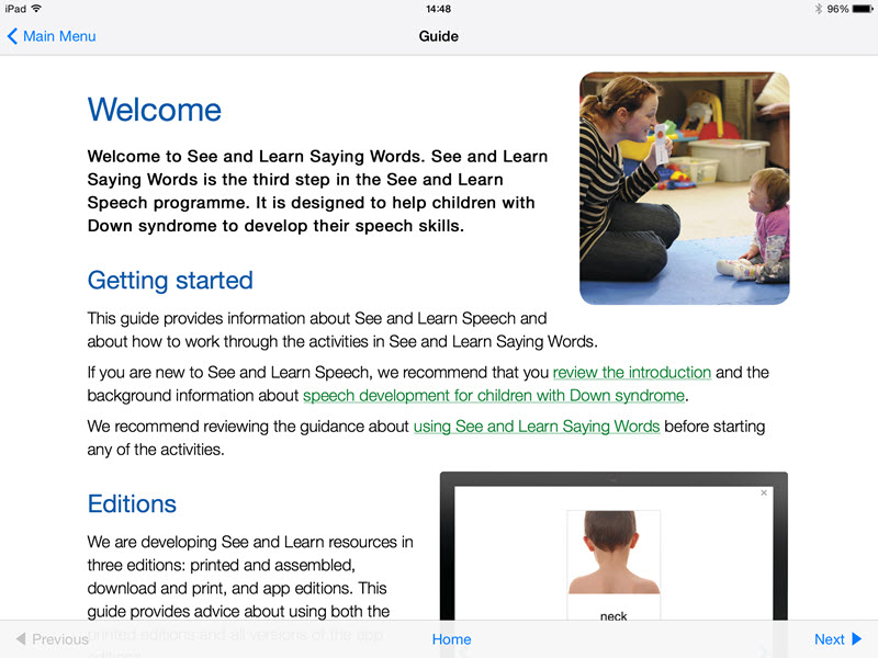 Guide - See and Learn Saying Words 1 iPad App